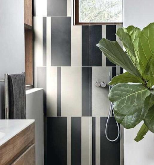 Douche à l'italienne design